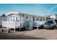 Front White PVC Caravan Decking - Enclosed - SUNDRUM CASTLE CRAIG TARA VIEWFIELD