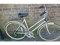 "RALEIGH 24"" LADIES RETRO SHOPPING BIKE"