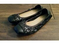 Girls Black Ballet Style Shoes. From Next. Size 3.