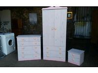 Solid Pine Painted Bedroom Furniture Set
