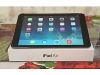 Apple iPad Air - Space Grey 16gb WIFI + cellular. Boxed + Case. EXCELLENT condition