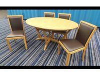 Immaculate Condition Solid Oak Extend Table With Chairs,Possible Delivery,