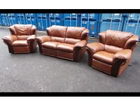 Electric Recliner Two Armchairs And Manual Recliner Sofa -DELIVERY 07448733546