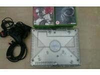 X BOX CRYSTAL CONSOLE 20 GAMES + CONTROLLER