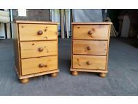 Solid Pine Bedside Cabinets