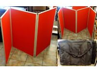 3 x 3 and 4 partitioned folding display boards