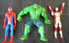 Superhero bundle. Hulk, spiderman,iron man