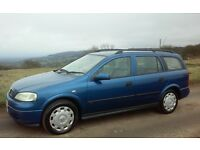 2002 VAUXHALL ASTRA 1.7 DTI ESTATE 1 YEARS MOT & TAX VERY ECONOMICAL 55 MPG CHEAP INSURANCE & TAX