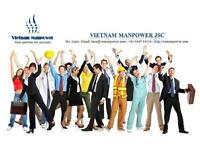 Vietnam Manpower supplies all types of workers to overseas market