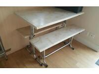 FREE SMALL DINING TABLE AND BENCHES