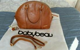 Baby Beau Eden luxury leather baby changing bag £229 new