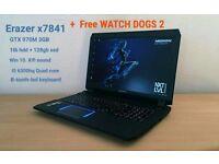 Medion Erazer X7841 GTX 970M 3GB - i5 6300hq - 1TB -128GB SSD - WIN 10 - 1080P - 17inch - GAMING