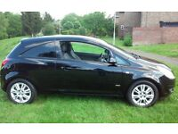 2008 VAUXHALL CORSA 1.2 DESIGN BLACK MOT & TAX 3 DOORHATCH VERY ECONOMICAL CHEAP INSURANCE & TAX