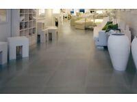 90 Large Dark Grey Premium Italian Floor Tiles 600mmx300mm