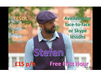 Qualified English Teacher (Victoria, Westminster, Chelsea) £15 per hour, First 1 hour Lesson is Free