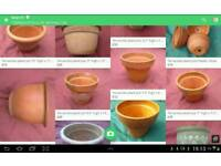 Joblot and individual terracotta garden plant pots