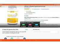 3 Tubs Of Lipavex Diet Pills Sealed In Date