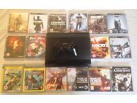 SONY PLAYSTATION SUPERSLIM PS3 500GB CONSOLE BUNDLE & 20 GAMES CALL OF DUTY MW2 MW3 MW4 UNCHARTED