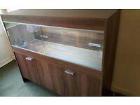 "Vivexotic 54"" Vivarium with Cabinets - Walnut"