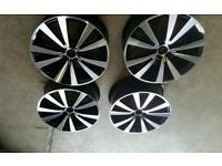 Genuine VW tornado alloy wheels 19""