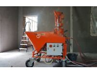 Plastering machine for rent
