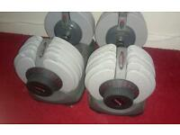 Bodymax adjustable dumbells. Up to 32.5kg