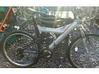 Gents full suspension mountain bike 18 inch