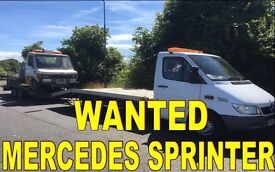 WANTED!!! MERCEDES SPRINTER VANS ANY CONDITION