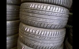 225/45/15 - 225/40/18 - pairs & sets - part worn tyres / rm13 8dr
