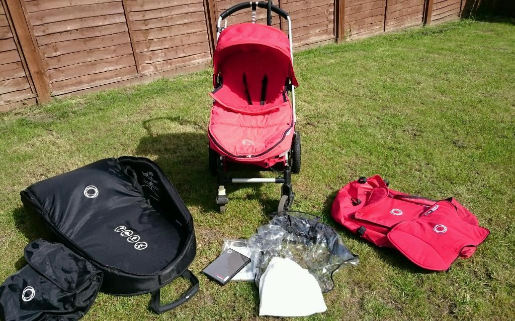 Bugaboo Buggy With Carrycot And Flight Bag In Fareham