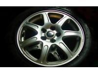 R16 5 stud jaguar x type alloy wheels & 205-55-r16 tyres