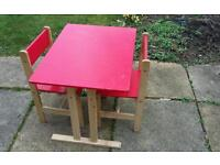 Childrens table and chairs for sale