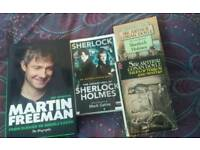 Sherlock Holmes DVD and selection of books (new and old)