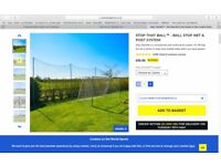 Brand New (Never Out the Box) Stop that Ball Netting System with extension