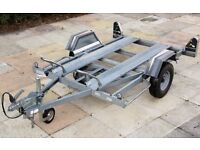 Twin Bike Trailer, Motorcycle Motorbike (Erde CH451) double or single use, excellent condition