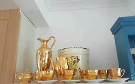 Gorgeous gold coloured tea set