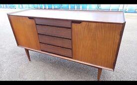 Retro Vintage Danish influence afromosia teak sideboard designed by Richard Hornby