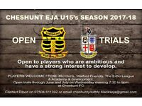 Cheshunt Youth FC Under 15's EJA - Looking for New Football Players