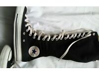 Converse high trainers, size 6.