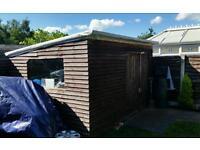 11ft x 9ft large garden shed/ workshop