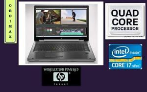 ***OUEST Laptop Professionnel HP 8770W WORKSTATION Intel i7 Quad Core/16Gb Ram/Video 4GB Nvidia Quadro dedie/Taxes inc.