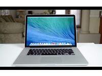 Macbook Pro 15 Inch Retina Display   Quad Core i7   8 GB Ram   256 GB SSD   90 Day Warranty
