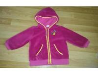 Toddler girls hooded zippy top age 2years