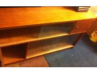 vintage side board chest shelve shelf tv stand