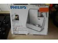for sale philips iphone i pod clock radio docking station NEW