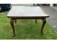 Antique mahogony wind out dining table