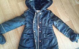 e4ff5ec39497 NEW Ted Baker - 2-3 Years Girls  navy padded shower resistant longline coat