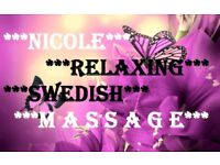 * NICOLE RELAXING SWEDISH MASSAGE *