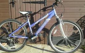 Ladies Raleigh Mountain Bike, alluminium frame, 18 speed,