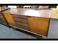 Retro Vintage Danish influence afromosia teak sideboard designed by Richard Hornby